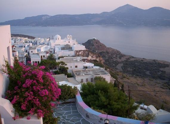'Plaka Milos Flower View at Magic Hour' - Μήλος